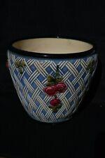 Antique 1920 Weller Zona Jardiniere Flower Pot Planter--Rare Basket Weave