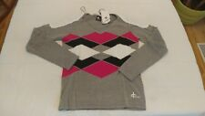 1 NWT CROSS WOMEN'S GOLF V-NECK SWEATER, SIZE: SMALL, COLOR: GREY **B95**