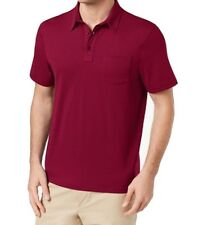 7e6dcf92b00 Club Room Red Clay Mens Size 2xl Pocket Chest Solid Polo Shirt #006