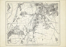 Old map London 1877 #20 repro - Lewisham, Ladywell, Hither Green, Rushy Grn etc
