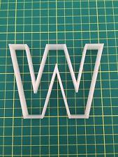 Alphabet Letter W cookie cutter