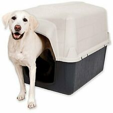 "Petmate Dog House 50-90 Lbs , Large, Tan/Black, 39""L x 29""W x 30""H Barnhome"