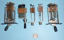 Lot of 5 Various Vintage Phone Type Toggle Switches & Jacks As Per Photo