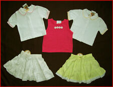 BABY GIRL Sz 00 Gorgeous 5 Pieces PINK & WHITE Mixed - 3 Tops And 2 Skirts - NEW