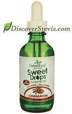 Sweet Leaf Sweet Drops Sweetener Liquid Stevia 2 oz Cinnamon ZERO Calories NEW