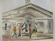 "Original Watercolor/Norman Rockwell Museum, Stockbridge, MA/12"" x 16""/MimiDavis"