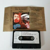 PAUL McCARTNEY WINGS RED ROSE SPEEDWAY CASSETTE TAPE 1973 PAPER LABEL EMI APPLE