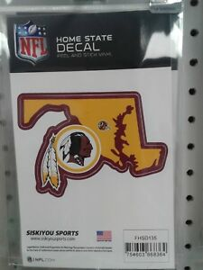 WASHINGTON REDSKINS HOME STATE VINYL SMALL DECAL