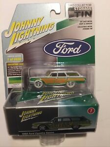 JOHNNY LIGHTNING WHITE LIGHTNING COLLECTOR TIN RAT FINK 1960 FORD COUNTRY SQUIRE