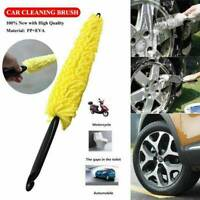 Car Auto Wash Sponges Handle Brush Wheel Cleaning Rims Tire Washing Tools Supply