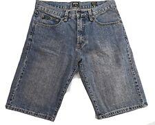 Rip Curl Blue Stone Wash Mens Denim Shorts Size 33 100% Cotton