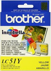 Genuine Brother LC51Y Yellow Ink Cartridge Single