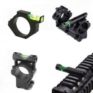 Hunting Scopes Bubble Level 25.4mm/30mm Rings For 20mm/11mm Weaver Rail Rifle