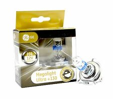 GE General Electric H4 MegaLight Ultra +130% 2 St. P43t 50440XNU ++NEU VON GE++