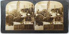 Keystone Stereoview Silk Mill, So. Manchester, CT Version B 1910's Education Set