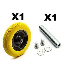 PU 14'' 3.50-8 Metal Wheelbarrow Wheel & Tyre Puncture Proof + Axle Barrow Cart