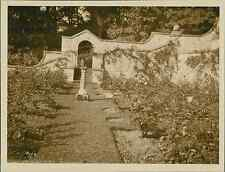 UK, Parwich (Derbyshire Dales). Garden, 1924  Vintage silver print.  Tirage ar