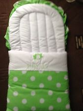 BABY NEST BABY SLEEP SAC BABY SLEEPING BAG GREEN WHITE SPOTS LITTLE STAR