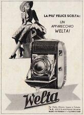 Z3771 Macchina fotografica WELTA - Pubblicità d'epoca - 1939 vintage advertising