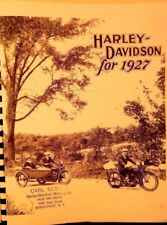 1927 Harley-Davidson Motorcycle & Sidecar Sales Brochure Showing All Models FSH