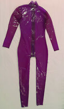 Latex rubber transparent lilac / translucent purple catsuit