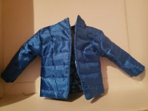 KEN DOLL CLOTHES, BLUE OVERSIZED PUFFER JACKET , FITS CURVY BARBIE AS WELL