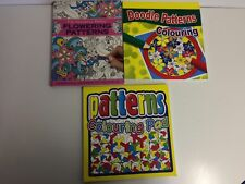 x3 Books - Doodle Patterns - Pattering Colouring Pad - Flowering Patterns