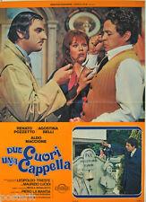soggettone originale DUE CUORI UNA CAPPELLA Agostina Belli Renato Pozzetto 1975