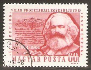 HUNGARY 1964 - Karl Marx stamp. Error. Used.