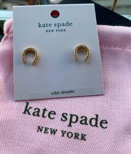 Kate Spade New York Wild Ones Pave Horseshoe Stud Earrings