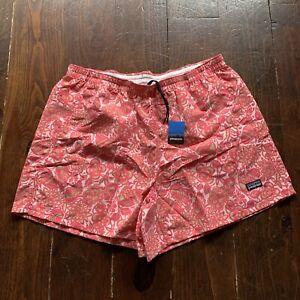 "Patagonia Baggies 4"" Flower Floral Pink Waterproof Shorts Women's Size Large NWT"