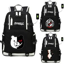 Anime School Shoulder Bags DanganRonpa Monokuma USB Backpack Laptop Travel Bags