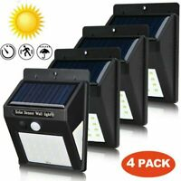 Waterproof 20 LED Solar Power PIR Motion Sensor Wall Light Outdoor Garden Lamp R