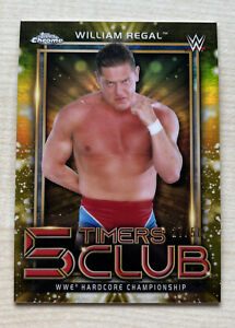 2021 Topps WWE Chrome William Regal 5 Timers Club Gold Refractor /50 #5T-20