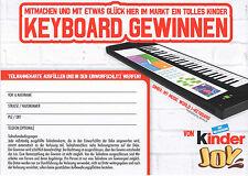 Gewinnspielkarte Keyboard Gewinnen Kinder Joy 5 Stk.
