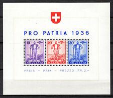 Switzerland - 1936 Pro Patria - Mi. Bl. 2 MH (Stamps MNH)