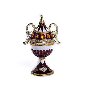 Faberge Egg Trinket Box & music Handmade by Keren Kopal Austrian Crystals
