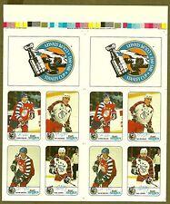 1992-93 Kraft Cheese  NHL All-Stars Proof Panels, Gretzky, Roy... (2 uncut Sets)
