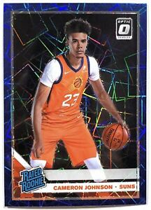 2019-20 Cameron Johnson Optic RC Blue Velocity #200 Phoenix Suns Rated Rookie