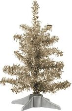 """New~9"""" Tinsel Christmas Tree~Champagne~Primitive/ Country/Retro/Vintage/Vict orian"""