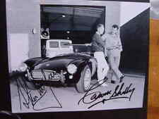 RARE STILL STEVE McQUEEN AND SHELBY SIGNED WITH CAR
