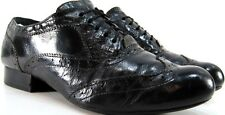 Barn Crown Women Wingtip Shoes Leather Size 7 Euro 38 Black Style N02322 CkF12