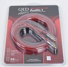 QED Performance Audio 1 Analog Cinch Stereo-Kabel 3,0 m EAN 5019 UVP war € 62,00