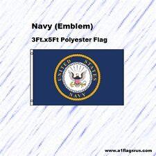 Navy (Emblem) 3x5ft Flag Poly