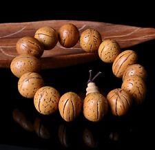 15mm Bodhi tree seeds Wood Tibetan Buddhist Prayer Beads Mala Bless Bracelet