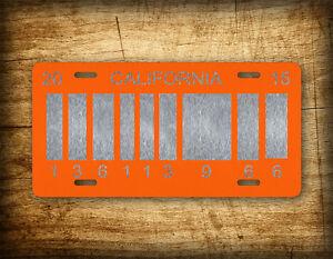 Back To The Future 2 Barcode License Plate Delorean Prop Replica Tag OUTATIME
