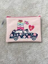 Accessorize London Pink/ Glitter/ Stripe Pencil Case/ Storage Bag