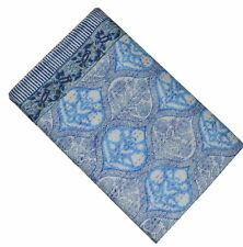 Indian Hand Block Print Queen Cotton Kantha Quilt Throw Blanket Bedspread Gudari