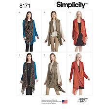 Simplicity KNIT JACKET & VEST Pattern # 8171 ~ Size XXS to XXL ~ New in Pkg!
