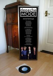 DEPECHE MODE JUST CAN'T GET ENOUGH PROMOTIONAL POSTER LYRIC SHEET,SPEAK & SPELL